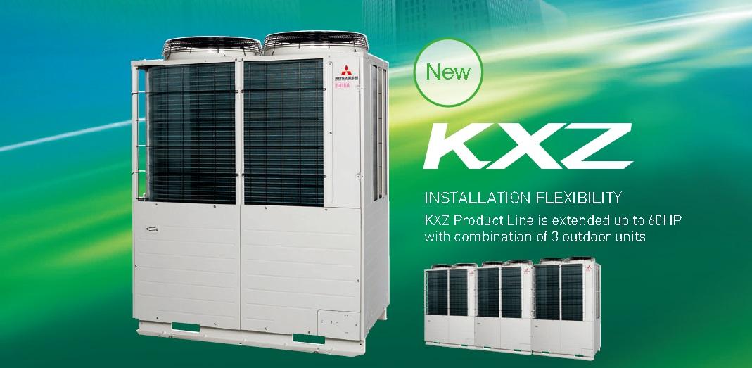 Mitsubishi KXZ VRF air cond system